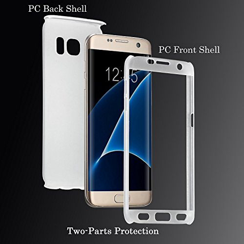 Funda Samsung Galaxy S6 Edge ,Wouier® Luxury 2 in 1 Electroplating Protective Case Superior Coating PC Hard Skin Full body Cover for Galaxy S6 Edge Transparente