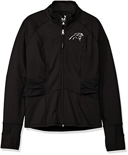 (Touch by Alyssa Milano NFL Carolina Panthers Women's Sideline Athleisure Track Jacket, Large, Black)