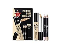 Clio Pro Artist Liquid Concealer with Pencil Concealer Brighter Set (2-BP (Lingerie))