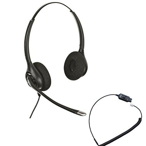 Avaya Compatible Plantronics Headset HW261N w/Mute Bundle | for Avaya IP Phones: 1608, 1616, 9601, 9608, 9610, 9611, 9611G, 9620, 9620C, 9620L, 9621, 9630, 9640, 9640G, 9641, 9650, 9650C, 9670, J179