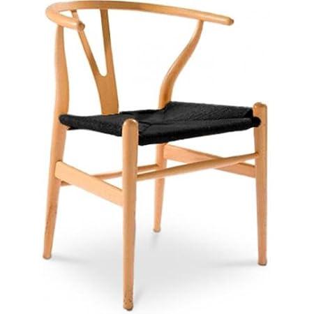 wishbone chair ch24 inspired by hans j wegner black seat black
