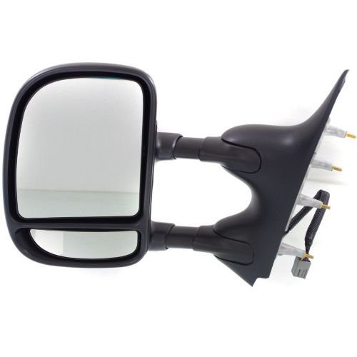 Make Auto Parts Manufacturing - Driver Side Power Door Mirror For Ford Econoline Van 09-14, Left Side Rear View Mirror, Manual Folding, Telescoping Type, Without Puddle Lamp FO1320329