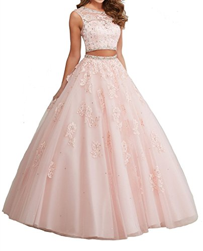 Sunday Womens' Sweetheart Pearls Vestidos 15 Ball Gown Sweet 16 Quinceanera Dress 06 US Pink