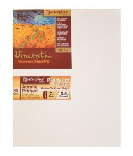 Masterpiece Vincent PRO 7 8  Deep, 12 x 16 Inch, Monterey 7oz Acrylic Primed Cotton Canvas by Masterpiece Artist Canvas B017O6YCBA | Überlegen