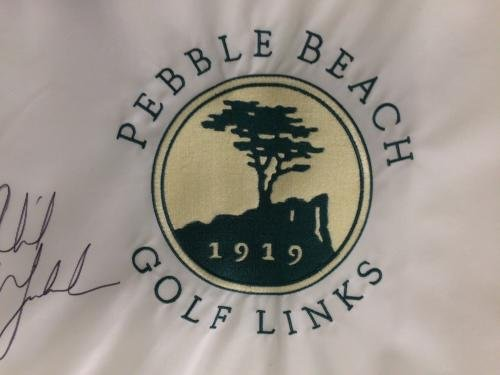 Phil Mickelson Signed Pin Flag Pebble Beach Autographed LOA PSA/DNA Certified Autographed Pin Flags