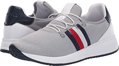 Price comparison product image Tommy Hilfiger Womens Rhena Fabric Low Top Bungee Fashion,  Grey,  Size 7.0