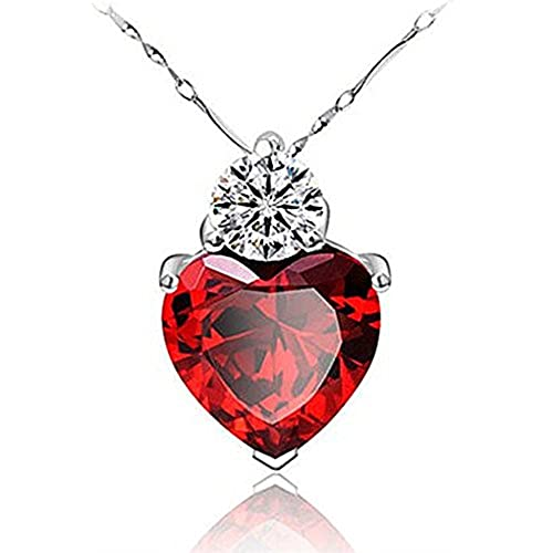 heart by n horrific jewelry finds siren pendant red shy