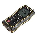 Fdit 11 Unit Portable Digital Manometer LCD Display Differential Manometer Air Gauges Pressure Meter Black