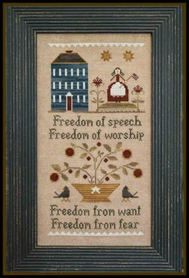 - Four Freedoms Cross Stitch Chart and Free Embellishment