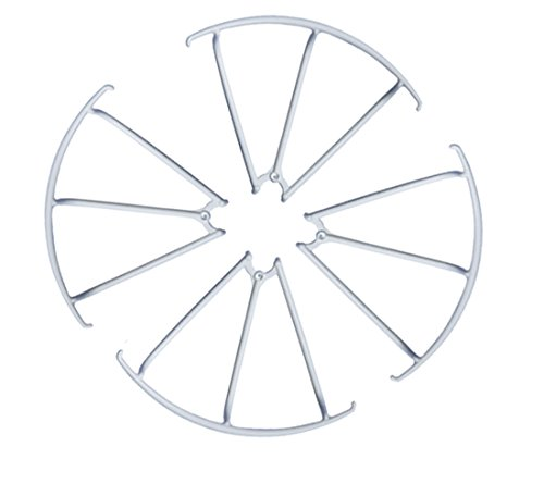 4 Spare Parts - MJX X400 RC Drone Spare Parts: 4 Piece Propeller Guard Bumper Protectors for MJX Quadcopter 4 axis Gyro UAV (White)