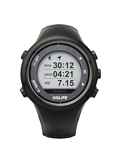 Waterproof GPS Watch Outdoor Smart Sport Golife 820i Watch both for Men and Women Triathlon Running Swimming Hiking Cycling (Black)