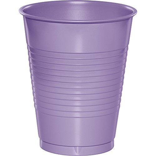 Creative Converting 28193081 Touch of Color 240 Count 16 oz Plastic Cups, Luscious Lavender
