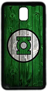 Green Lantern Corps Wood Look Samsung Galaxy Note 3 N9000 Case, Soft Material TPU Black Skin Protector Cover DIY by Hahashopping