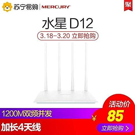 Amazon.com: Mercury Mercury D12 - Enrutador inalámbrico ...