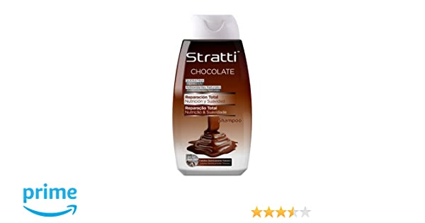 Stratti Chocolate y Keratina - Champú Reparación Total, sin Sal - 400 ml: Amazon.es: Belleza
