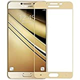 Tempered Glass For Samsung Galaxy J7 Prime,Premium Oil Resistant Coated Tempered Glass Screen Protector Film Guard for Samsung Galaxy J7 Prime-Gold