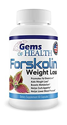 #1 100% Pure Forskolin Extract 250mg High Grade Capsules MADE IN USA 60 capsules