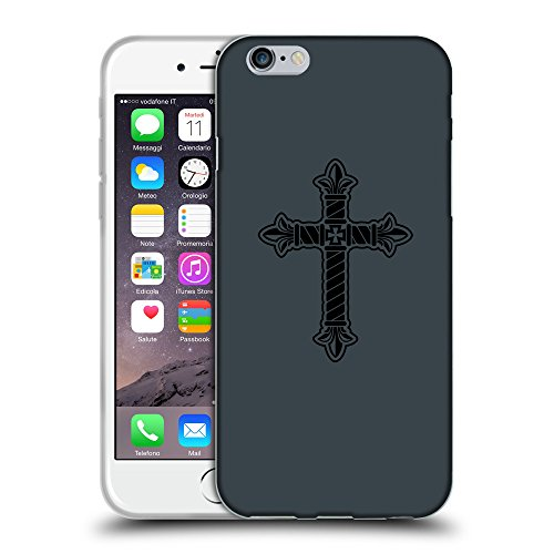 "GoGoMobile Coque de Protection TPU Silicone Case pour // Q07960606 Christian Cross 21 Arsenic // Apple iPhone 6 PLUS 5.5"""