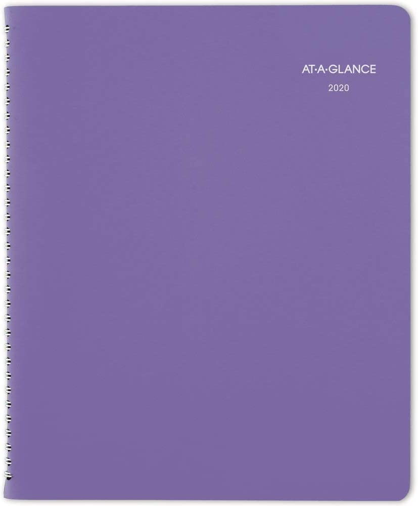 """AT-A-GLANCE 2020 Weekly & Monthly Planner, Appointment Book, 8-1/2"""" x 11"""", Large, Beautiful Day, Lavender (938P-905)"""