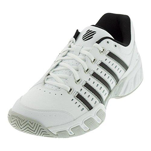 (K-Swiss Men's Bigshot Light Tennis Shoe, White/Black/Silver, 10 M US)