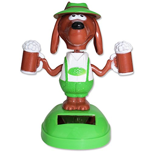 Dog Holding Beer Solar Toy Home Decor Gift ~ We Pay Your Sales Tax
