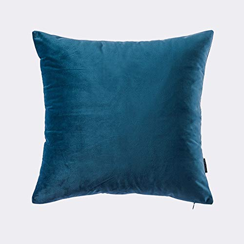 TZY Pillow, Velvet Solid Color Simple Pillow Modern Sofa Large Cushion Bed Pillow Back Cushion (Color : Blue, Size : 30cm50cm) (Best Sleeping Position For Asthma Patients)