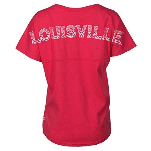 Official NCAA University of Louisville Cardinals Fight UofL Women's Short Sleeve Spirit Wear Jersey T-Shirt