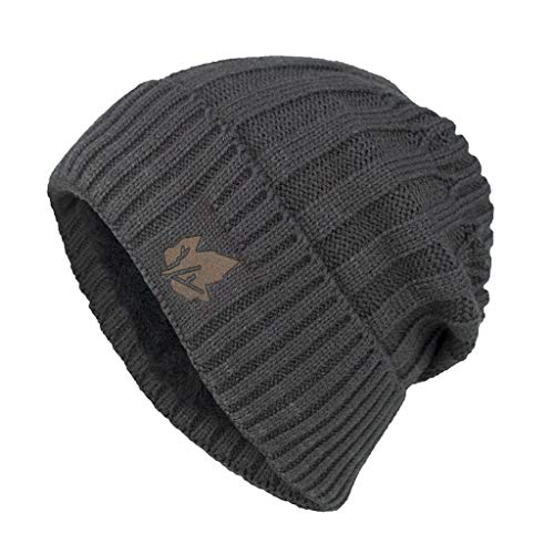 PLENTOP-Beanie -Men Women Winter Down Headgear Solid Color Pile Cap Casual Earmuffs Hat