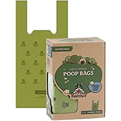 Pogi's Poop Bags - 300 Bags with Easy-Tie Handles - Earth-Friendly, Scented, Leak-Proof Dog Waste Bags