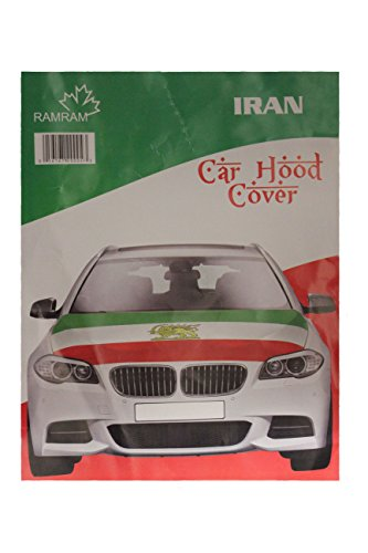 IRAN Country Flag With LION CAR HOOD COVER New by Unknown