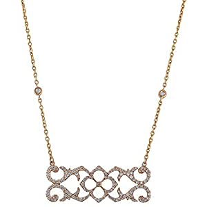 Verona Women's Rose Gold 18K Diamond Necklace