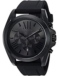 Michael Kors Men's 'Bradshaw' Quartz Stainless Steel and Silicone Casual Watch, Color:Black (Model: MK8560)