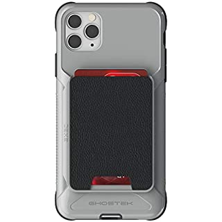 """Ghostek Exec Designed for iPhone 11 Pro Wallet Case with Card Holder Phone Cover Built-in Magnet for Magnetic Car Mounts & Removable Leather Pocket for Wireless Charging 2019 iPhone Pro (5.8"""") - Gray"""