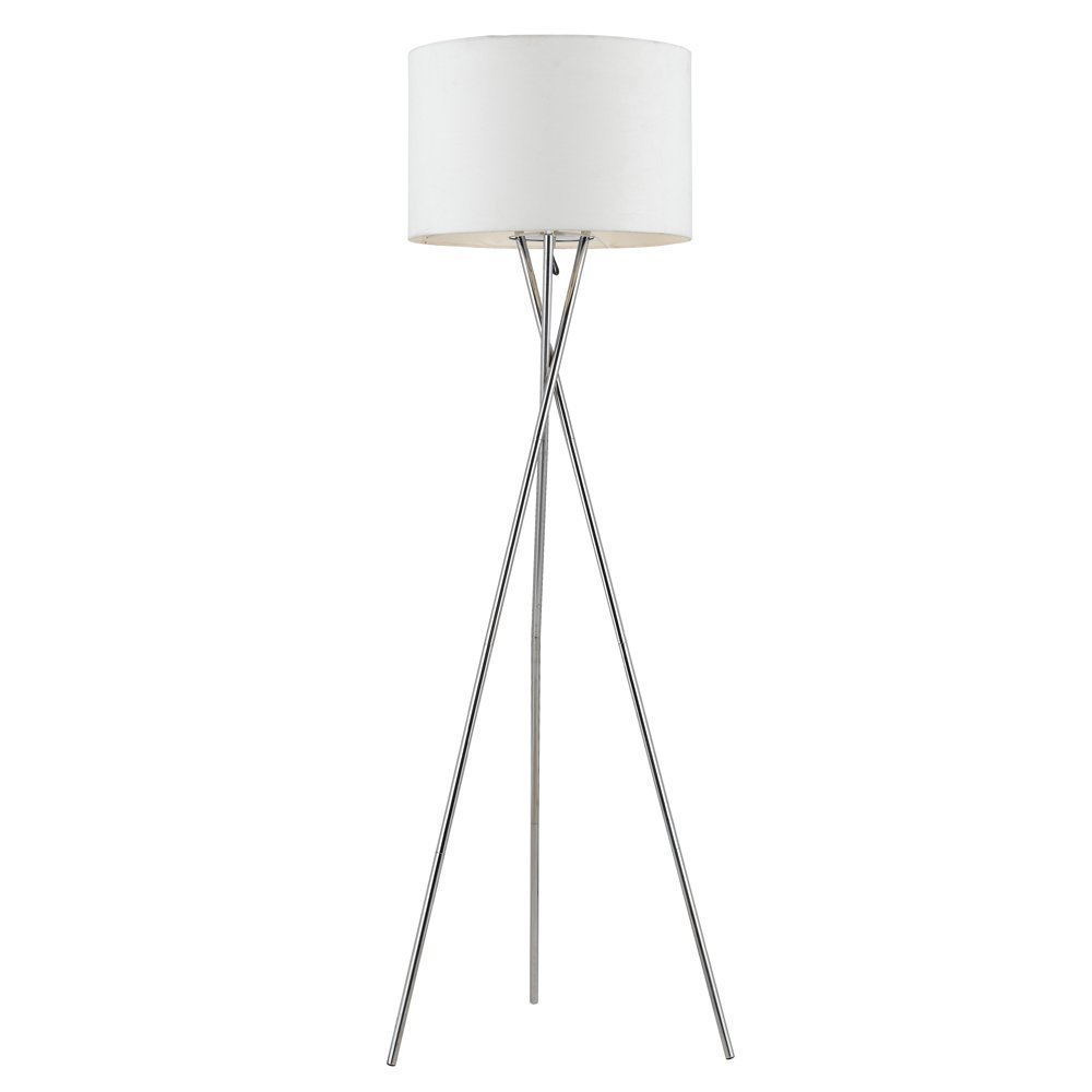 Euro Style Collection Lisboa Tripod Metal Body Modern Floor Lamp, White