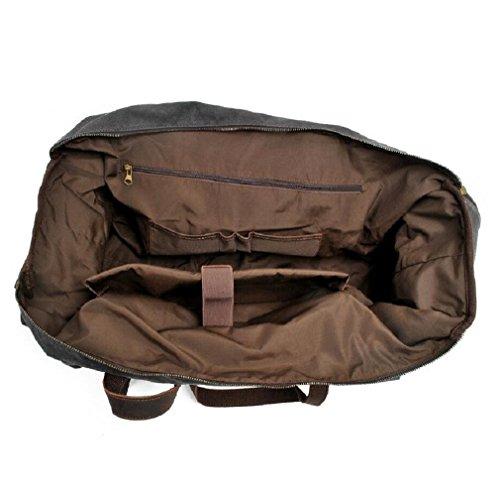 ZC&J Bolsos de los hombres Bolso de viaje de lona Bolso de hombro casual Bolsa de equipaje impermeable de gran capacidad, desgaste sólido Anti-Shot Anti-Tear mochila de senderismo al aire libre,A,56-7 B