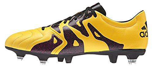 adidas X 15.3 Sg Leather, Botas de Fútbol para Hombre Naranja / Negro / Rosa (Dorsol / Negbas / Rosimp)