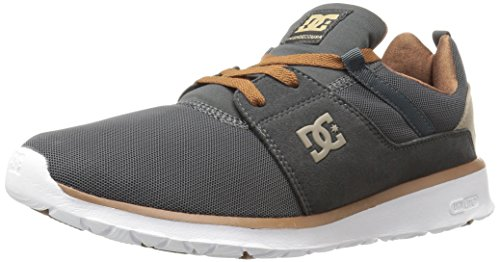 Dc Mens Heathrow Casual Skate Shoe Grigio Antracite