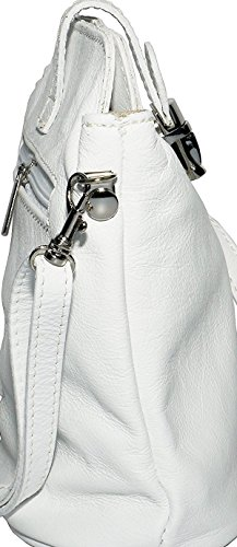 cruzados mujer rosa blanco oro small blanco Bolso de para Benagio cuero pq55SZ