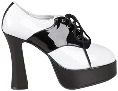 Chaussures blanches et noires vernies femme - Pointure 39