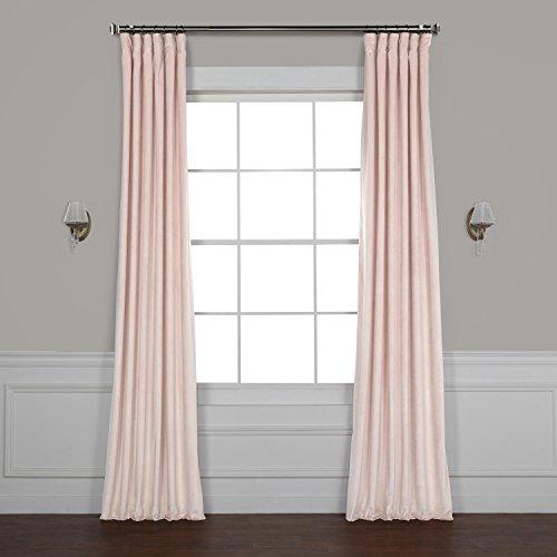 Half Price Drapes VPYC-161207-96 Heritage Plush Velvet Curtain, 50 x 96, Ballet (Blush Curtain)