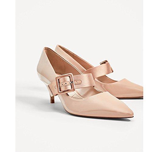 en lumière une à de peinture Chaussures chaussures pour fine de Color l'automne femelle femme pointe Unique Raw et du Escarpin avec GAOLIM chaussures Chaussures Pqw6FZc