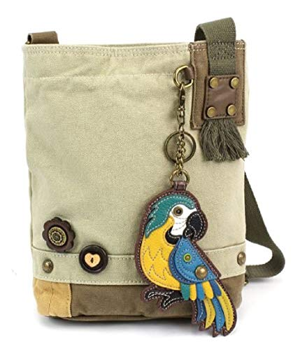Sand Chala Body Women Patch Blue Parrot Messenger Color Handbag Sand Bag Cross Canvas wBFqOwT