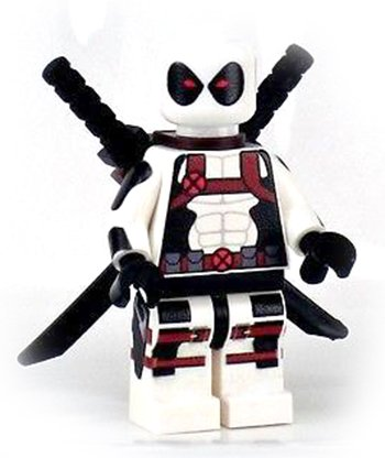 [White Deadpool mini figure building blocks compatible figure! Variant Outfit] (Deadpool Costume Variants)