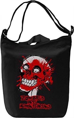Zombies Are Humanitarians Borsa Giornaliera Canvas Canvas Day Bag| 100% Premium Cotton Canvas| DTG Printing|