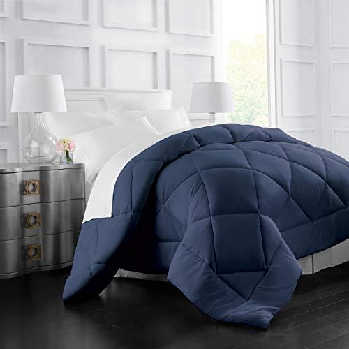 Italian Luxury Goose lower distinct Comforter - All Season - 2100 Series Hotel group - Luxury Hypoallergenic Comforter - Twin/TwinXL - Navy