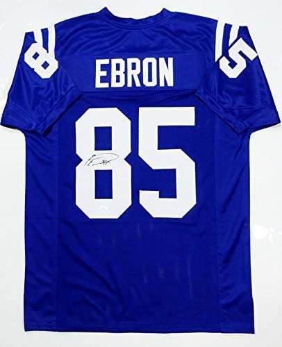 Eric Ebron Autographed Blue Pro Style Jersey - JSA W Auth at ...