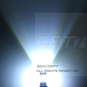 OPT7 Show Glow H11 LED Fog Light Bulbs - Plasma COB 6000K Cool White @ 420Lm per bulb - Plug-n-Play (Pack of 2)