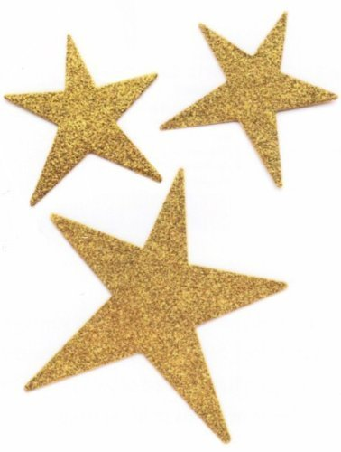 Embellish Your Story Gold Glittered Star Magnets - Set of 3 Assorted - Embellish Your Story Roeda 18910-EMB