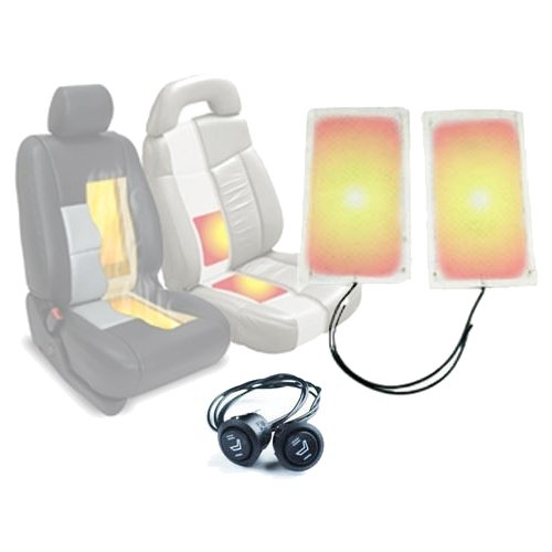 UK Seat Heater 2 Pairs Heated Seats Kit /& Two Stage Switches with Carbon Fibre Element Pad