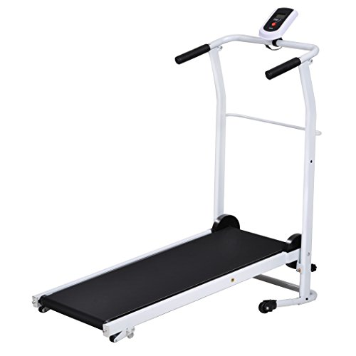 Wakrays Portable Folding Mechanical Easy-Up Manual Treadmill Cardio Fitness Exercise Running Machine Home Gym Treadmill